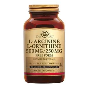 Solgar Vitamins L-Arginine/L-Ornithine 500/250 mg afbeelding