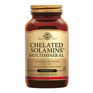 Solgar Vitamins Chelated Solamins Multimineral afbeelding