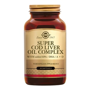 Solgar Vitamins Super Cod Liver Oil Complex (levertraan met visolie en vitamine D) afbeelding