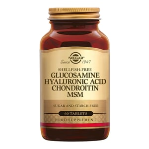 Solgar Vitamins Glucosamine Hyaluronic Acid Chondroitin MSM afbeelding