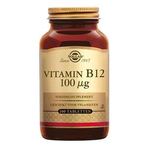 Solgar Vitamins Vitamin B-12 100 µg (cyanocobalamine, B12) afbeelding