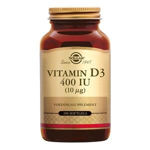 Solgar Vitamins Vitamin D-3 10 µg/400 IU (vitamine D uit visleverolie) afbeelding
