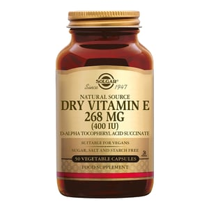 Solgar Vitamins Vitamin E 268 mg/400 IU Dry (vitamine E, geschikt voor vegetariërs) afbeelding