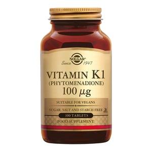 Solgar Vitamins Vitamin K-1 100 µg (fytonadion, vitamine K) afbeelding