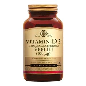 Solgar Vitamins Vitamin D-3 4000 IU /100 µg (vitamine D uit wolvet) afbeelding