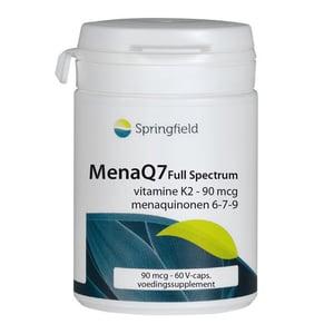 Springfield MenaQ7 Full Spectrum vitamine K2 90 mcg afbeelding