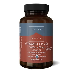 Terranova Vitamine D3 1000IU met K2 50 mcg complex afbeelding