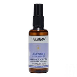 Tisserand massage&body olie laven&kamill afbeelding