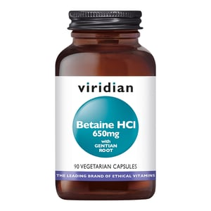 Viridian Betaine HCl 650 mg with Gentian Root afbeelding