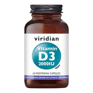Viridian Vitamin D3 (Vegan) 2000 IU (50 µg) afbeelding