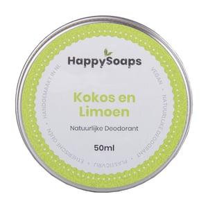 HappySoaps Natuurlijke Deodorant Kokos en Limoen afbeelding