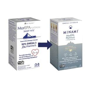 Minami Nutrition MorEPA Platinum 1000 IE Vitamine D (verbeterde formule) afbeelding