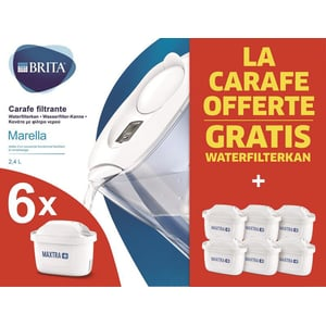 Brita Waterfilterbundel Marella Cool White + 6 Filters afbeelding