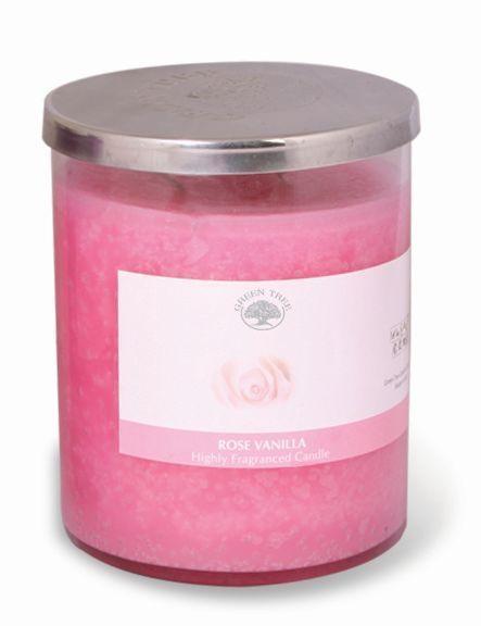 Geurkaars rose vanilla