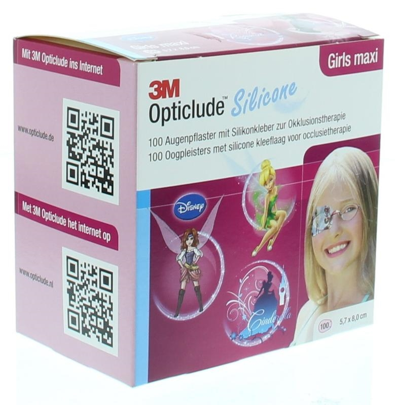 Opticlude Oogpleister Siliconen Maxi Girl Prinses Fairy 100st