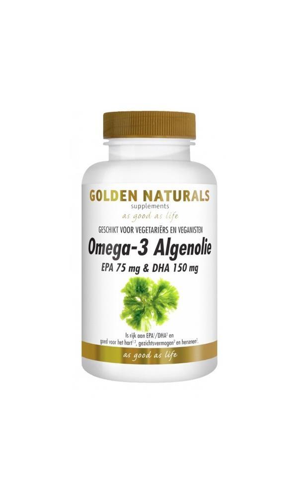 Afbeelding van Golden Naturals Omega-3 algenolie liquid capsules