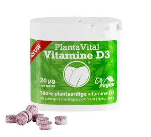 Afbeelding van Plantavital Plantaardige vitamine D3 (vegan, 800 IE)