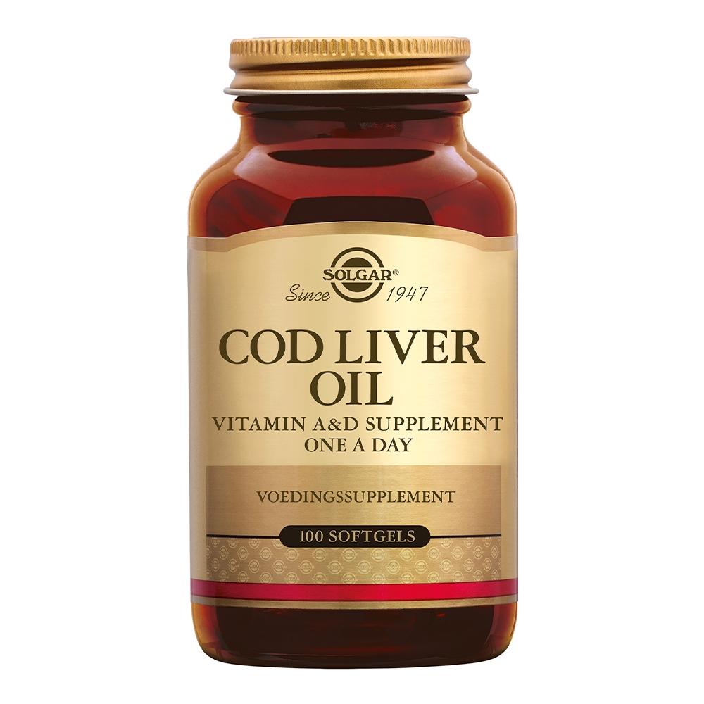 Afbeelding van Solgar Vitamins Cod Liver Oil (levertraan)