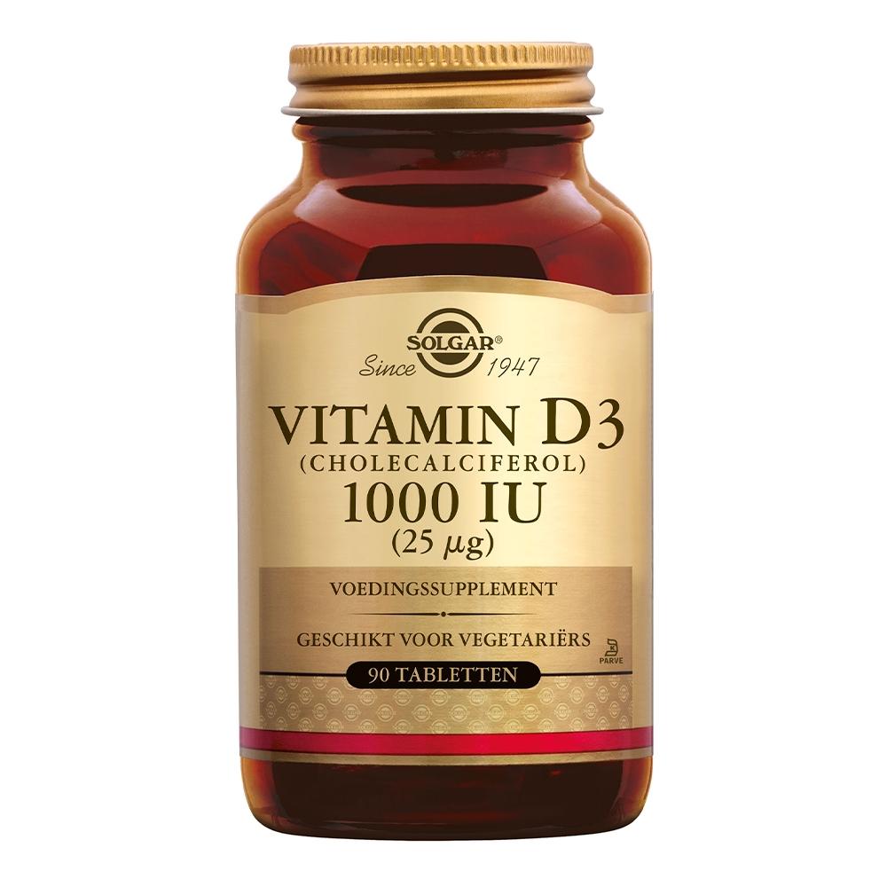 Vitamin D-3 25µg/1000 IU (vitamine D uit wolvet)