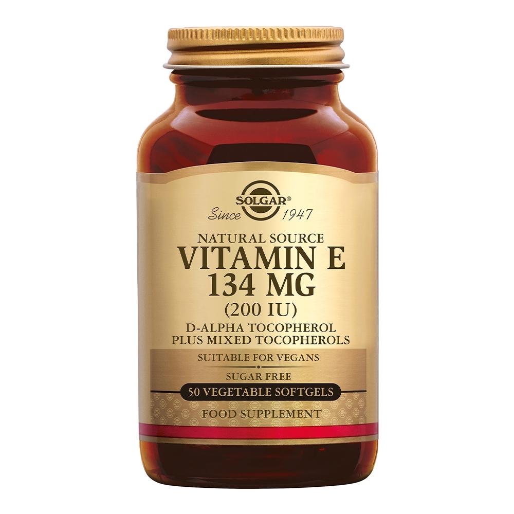 Afbeelding van Solgar Vitamins Vitamin E 134 mg/200 IU Vegan (vitamine E in plantaardige softgels)