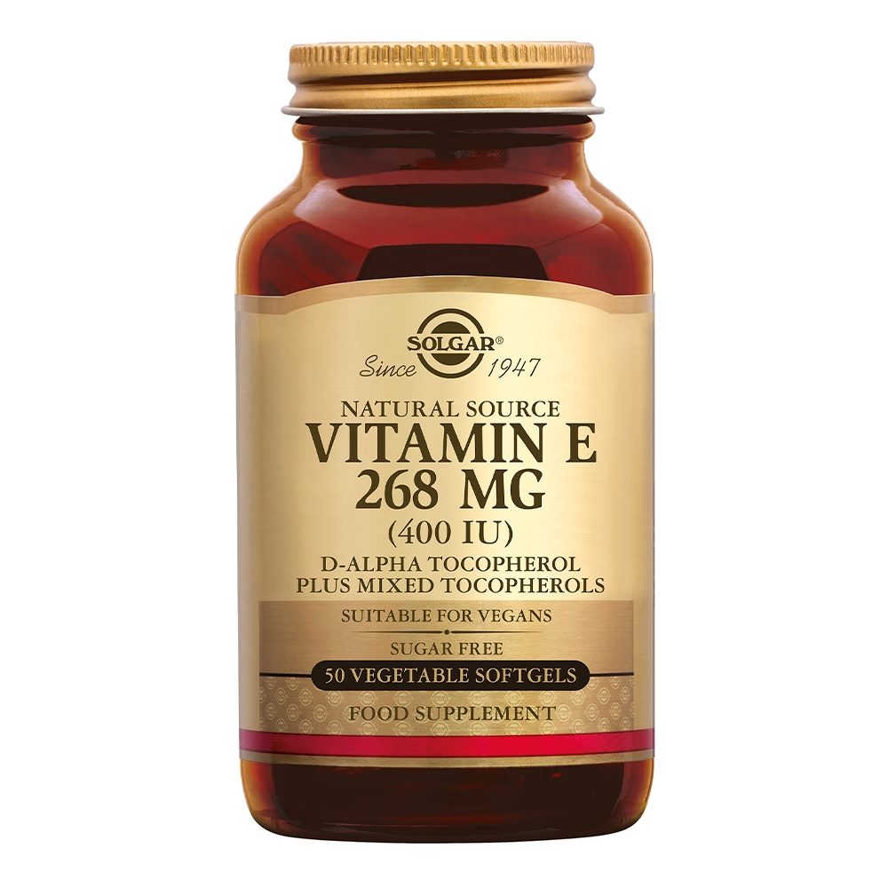 Afbeelding van Solgar Vitamins Vitamin E 268 mg/400 IU Vegan (vitamine E in plantaardige softgels)