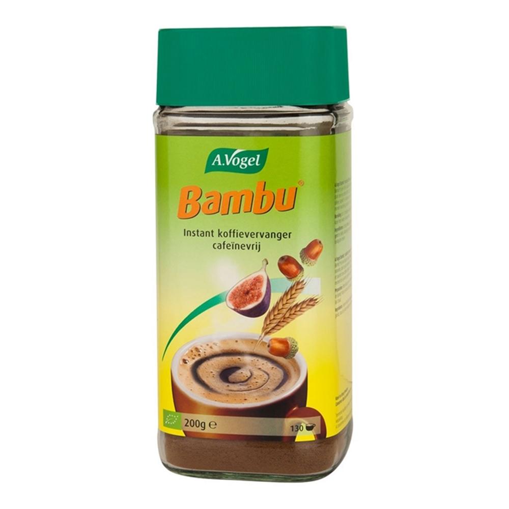 A.vogel bambu is een 100% natuurlijke koffievervanger gemaakt van chichorei, turkse vijgen, tarwe, gemoute ...