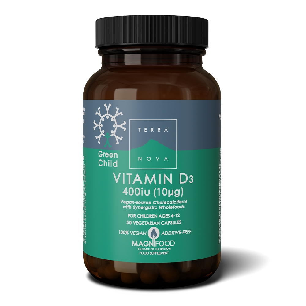 Afbeelding van Terranova Green Child Vitamin D3 400 IU (vegan)