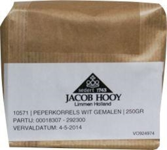 Jacob Hooy Peper wit gemalen afbeelding