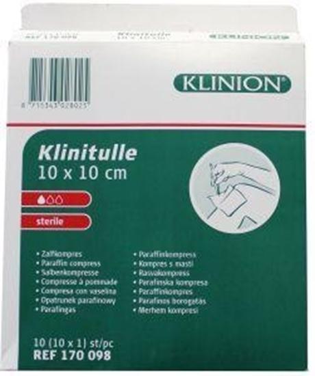 Klinion Klinitulle zalfkompres 10 x 10 afbeelding