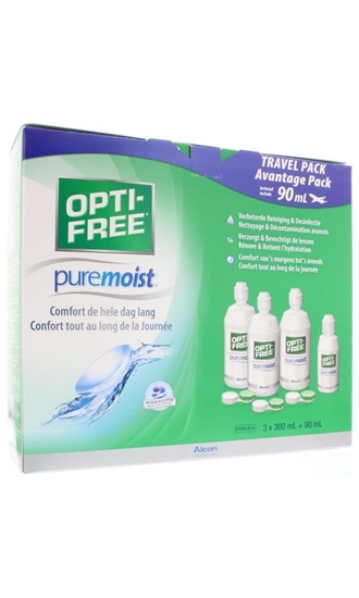 Optifree Puremoist advantage MPDS pakket afbeelding