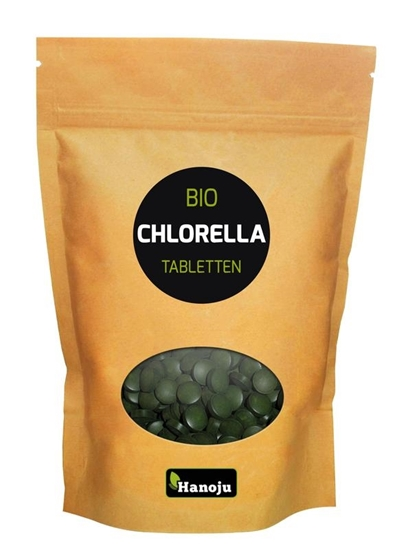 Hanoju Bio chlorella 400 mg papier zak afbeelding