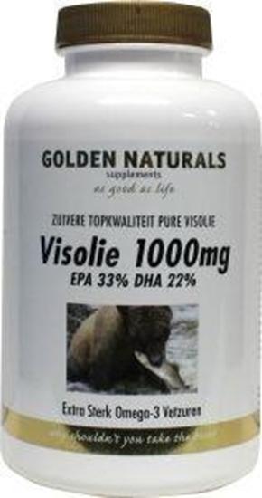 Golden Naturals Visolie 1000 mg (330 mg EPA, 220 mg DHA) afbeelding