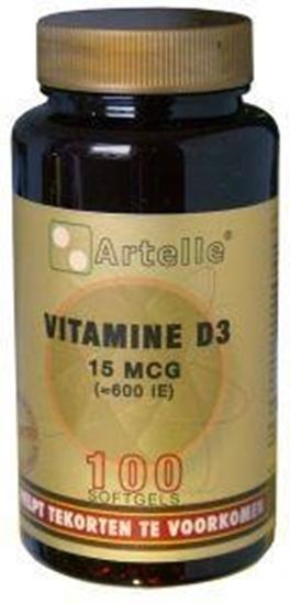 Artelle Vitamine D3 15 mcg afbeelding