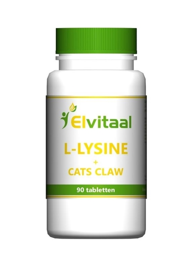 Elvitaal L-Lysine cats claw afbeelding