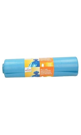 Paclan Huisvuil/afvalzak blauw 120 liter afbeelding