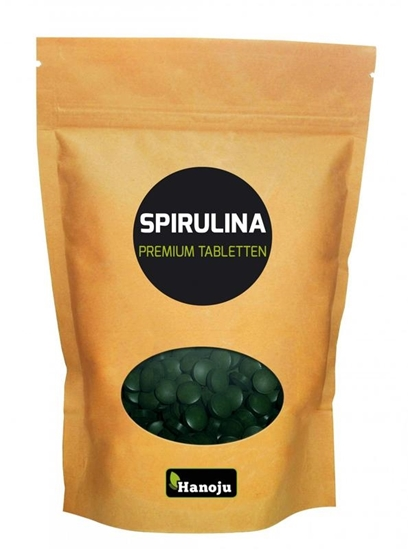 Hanoju Spirulina 400 mg premium zak afbeelding