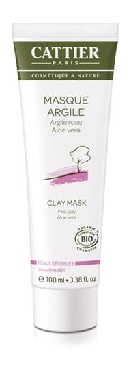 Cattier Roze klei masker aloe vera afbeelding