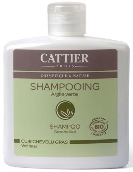 Cattier Shampoo vet haar groene klei afbeelding