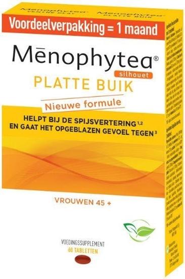 Phytea Menophytea platte buik silhouet afbeelding