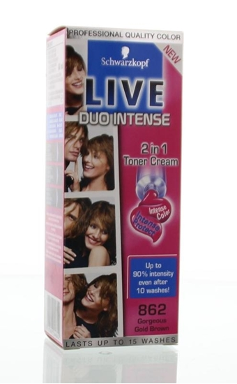Live Duo intense 862 gorgeous gold brown afbeelding