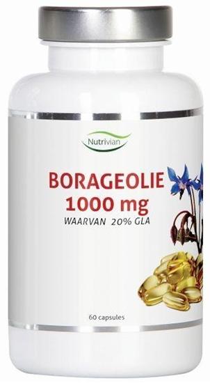 Nutrivian Borage olie 1000 mg afbeelding