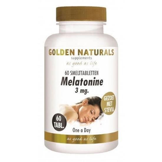 Golden Naturals Melatonine 3 mg afbeelding