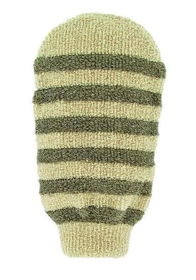 Forsters Massage handschoen gestreept linnen / katoen afbeelding