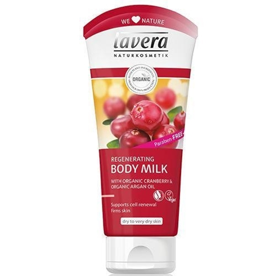 Lavera Bodymilk regenerating cranberry & argan oil afbeelding