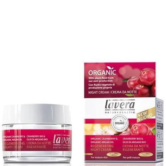Lavera Nightcream regenerating cranberry & argan oil afbeelding