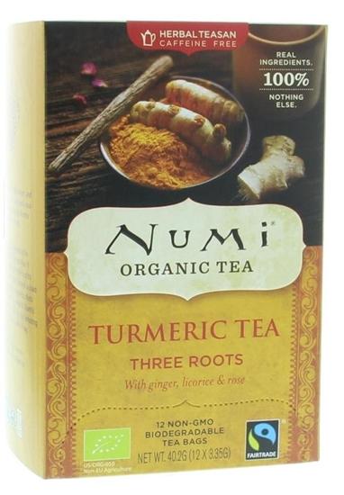 Numi Turmeric tea three roots afbeelding