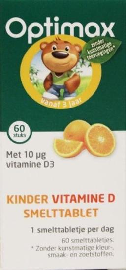Optimax Kinder natuurlijk vitamine D smelttablet afbeelding