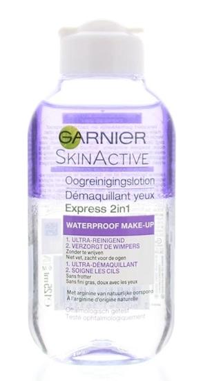 Garnier Skin naturals express oogreinigingslotion 2in1 afbeelding