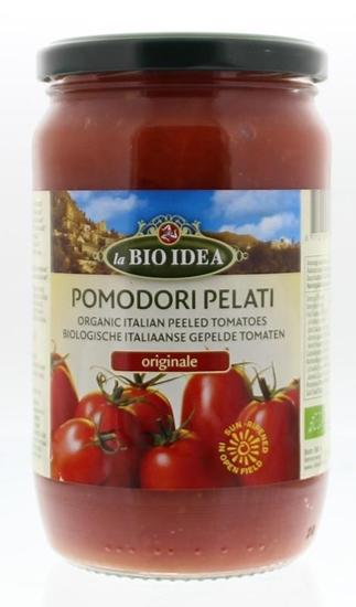 Bioidea Tomaten gepeld (glas) afbeelding