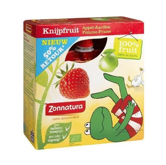 Zonnatura Knijpfruit appel/aardbei kikker 85 gram afbeelding